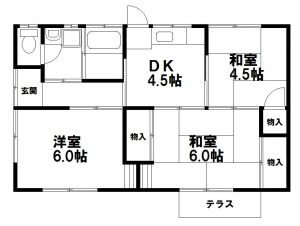 岡山市南区妹尾の3DK貸家に空きが出ました!
